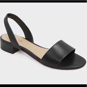 Aldo low block Candice Sandal Black BNWT Size 9